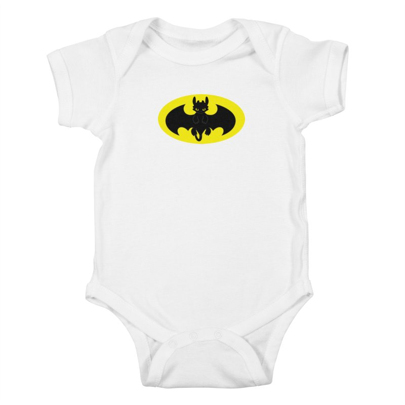 toothless batman Kids Baby Bodysuit by daniac's Artist Shop