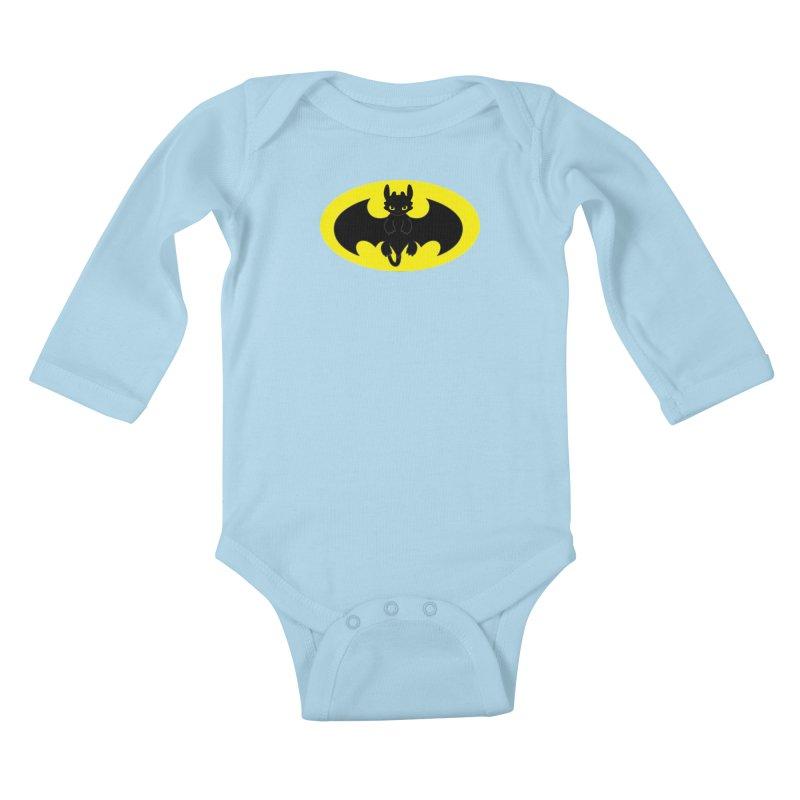 toothless batman Kids Baby Longsleeve Bodysuit by daniac's Artist Shop