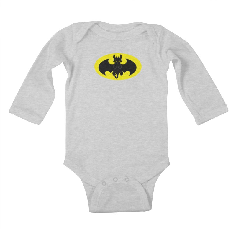 toothless batman Kids Baby Longsleeve Bodysuit by daniac's Artist Shop