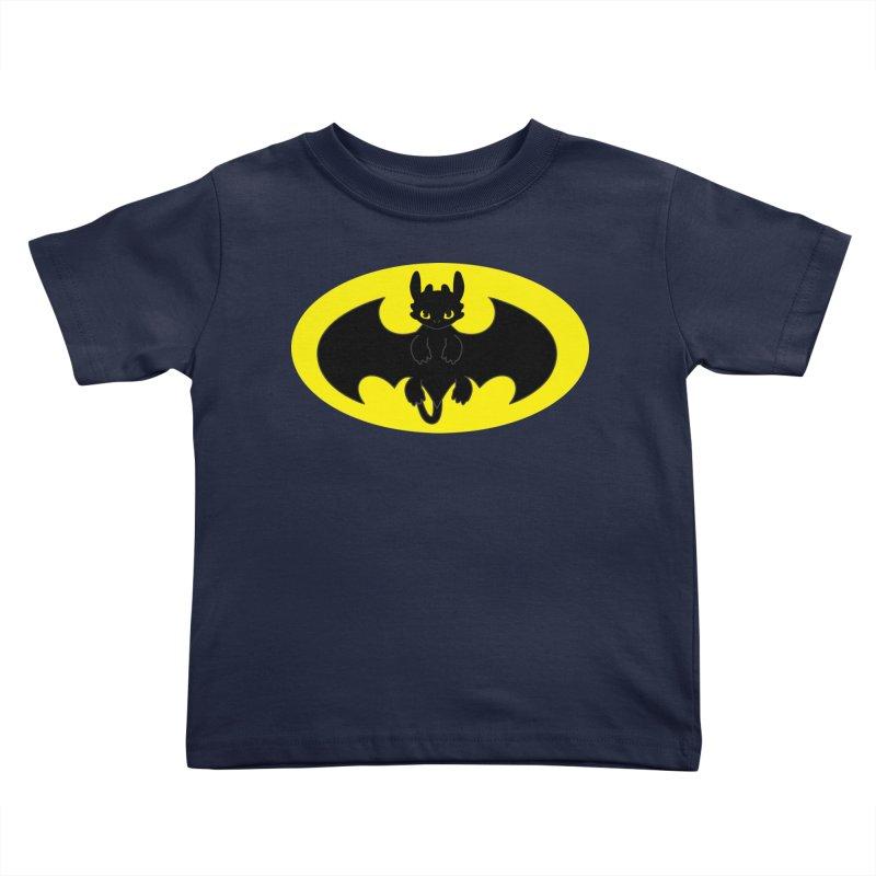 toothless batman Kids Toddler T-Shirt by daniac's Artist Shop