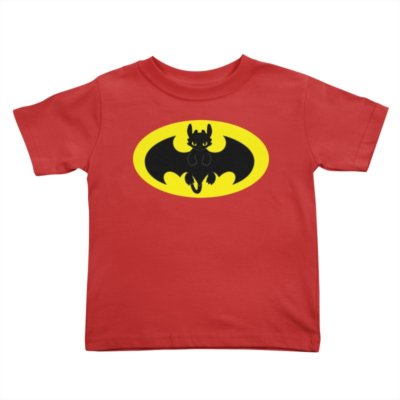 toothless batman Kids Toddler T-Shirt by daniac's Artist Shop