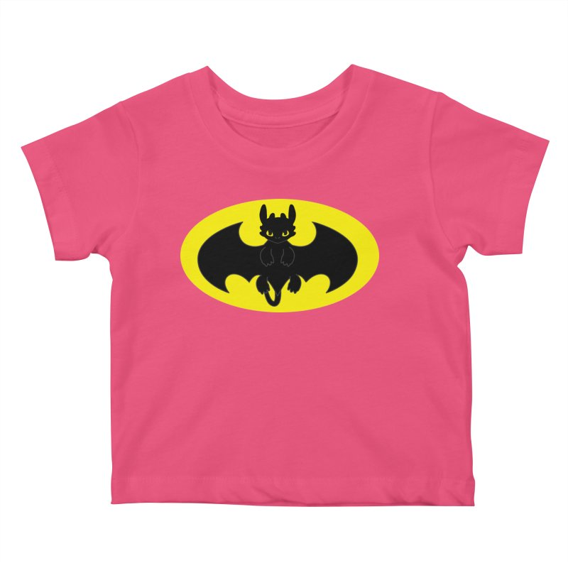 toothless batman Kids Baby T-Shirt by daniac's Artist Shop