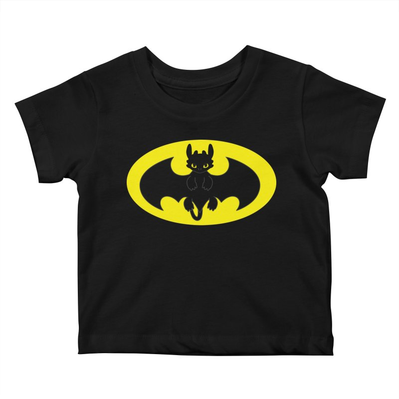 toothless batman Kids Baby T-Shirt by daniac's Artist Shop