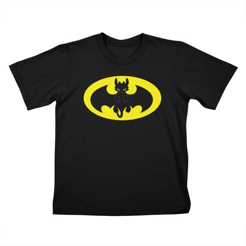 toothless batman Kids T-Shirt by daniac's Artist Shop