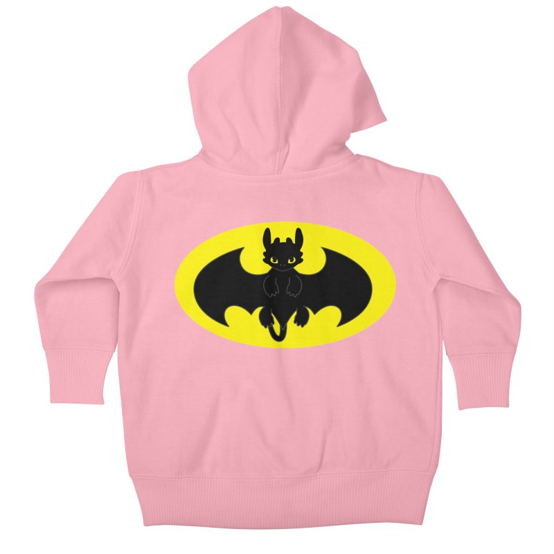 toothless batman Kids Baby Zip-Up Hoody by daniac's Artist Shop