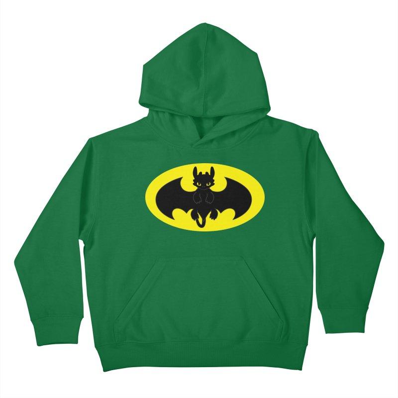 toothless batman Kids Pullover Hoody by daniac's Artist Shop