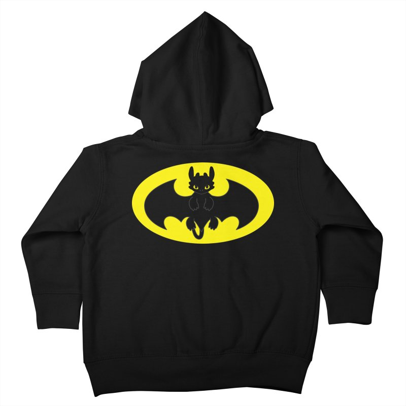 toothless batman Kids Toddler Zip-Up Hoody by daniac's Artist Shop