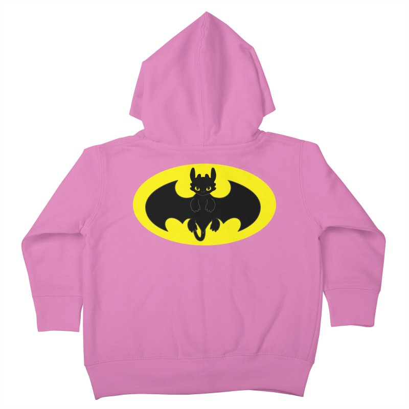 toothless batman Kids Toddler Zip-Up Hoody by daniac's Artist Shop