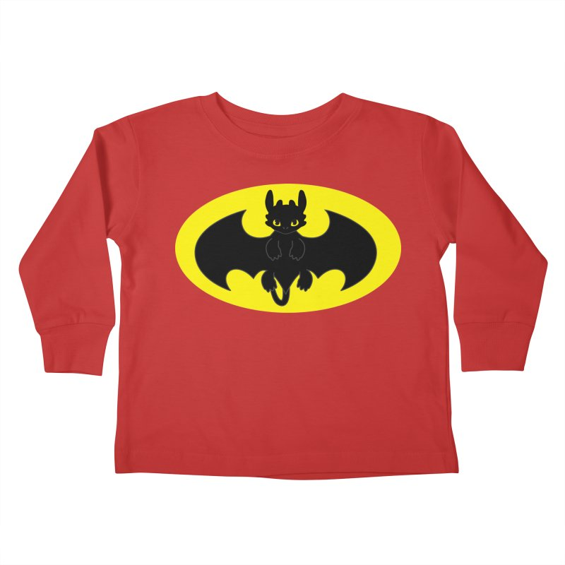 toothless batman Kids Toddler Longsleeve T-Shirt by daniac's Artist Shop