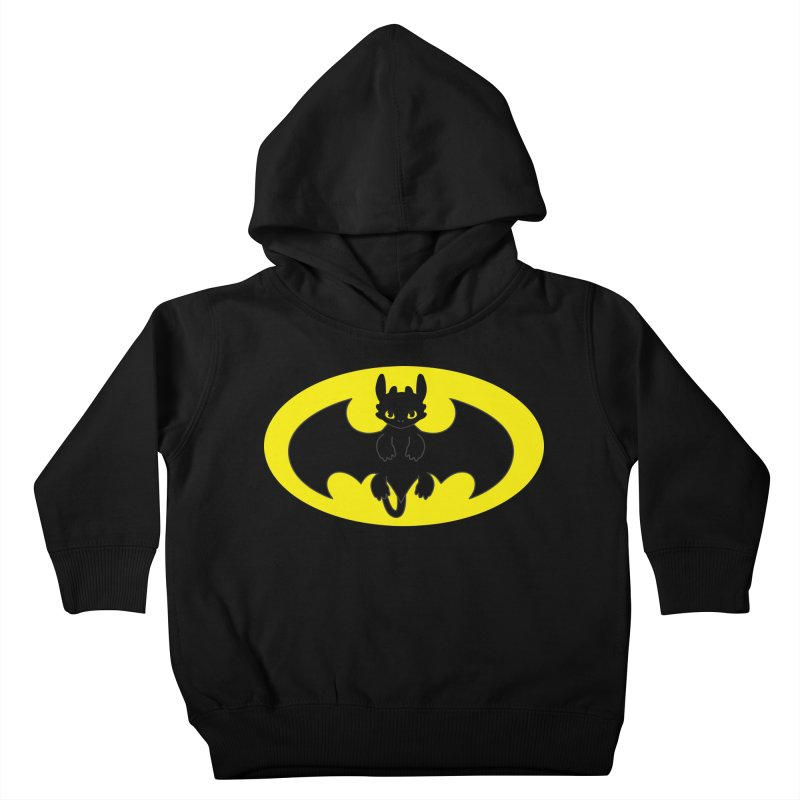 toothless batman Kids Toddler Pullover Hoody by daniac's Artist Shop