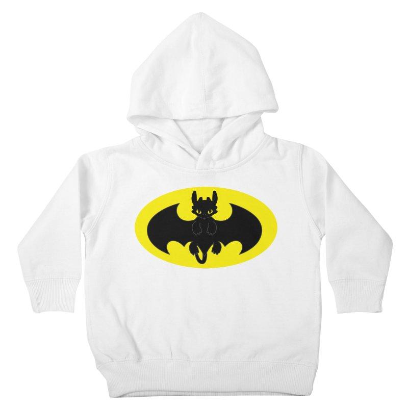 toothless batman Kids Toddler Pullover Hoody by daniac's Artist Shop