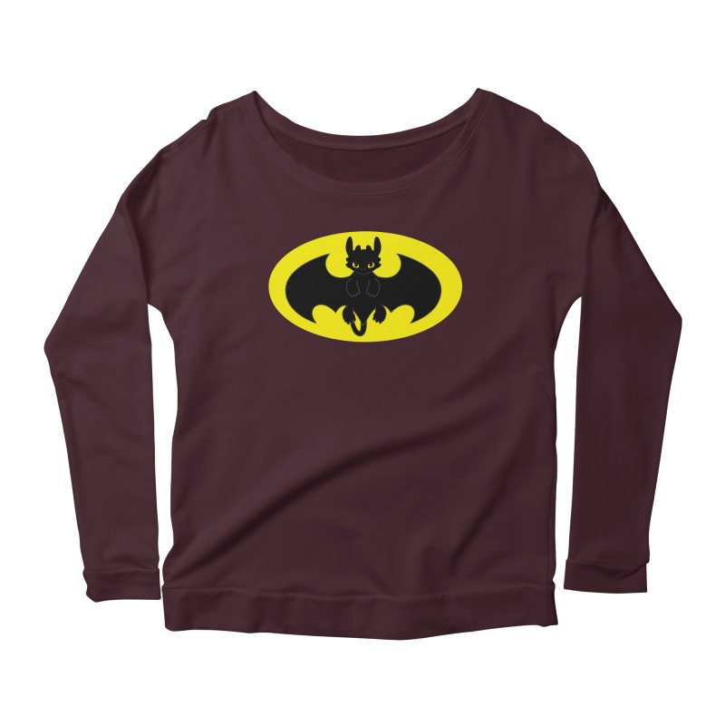 toothless batman Women's Longsleeve T-Shirt by daniac's Artist Shop