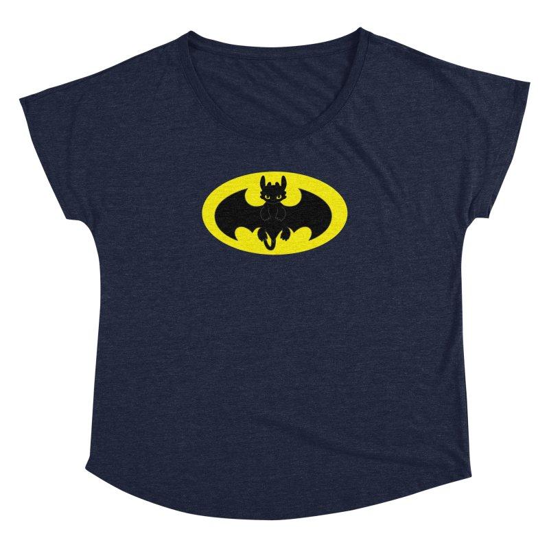 toothless batman Women's Dolman Scoop Neck by daniac's Artist Shop