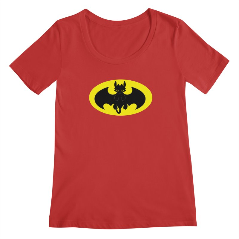 toothless batman Women's Regular Scoop Neck by daniac's Artist Shop