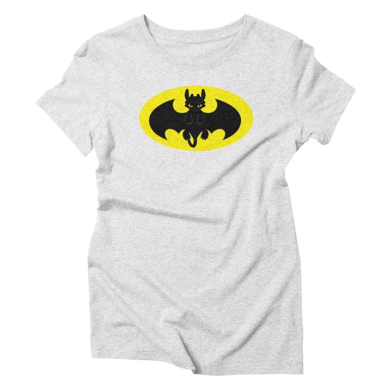toothless batman Women's Triblend T-Shirt by daniac's Artist Shop