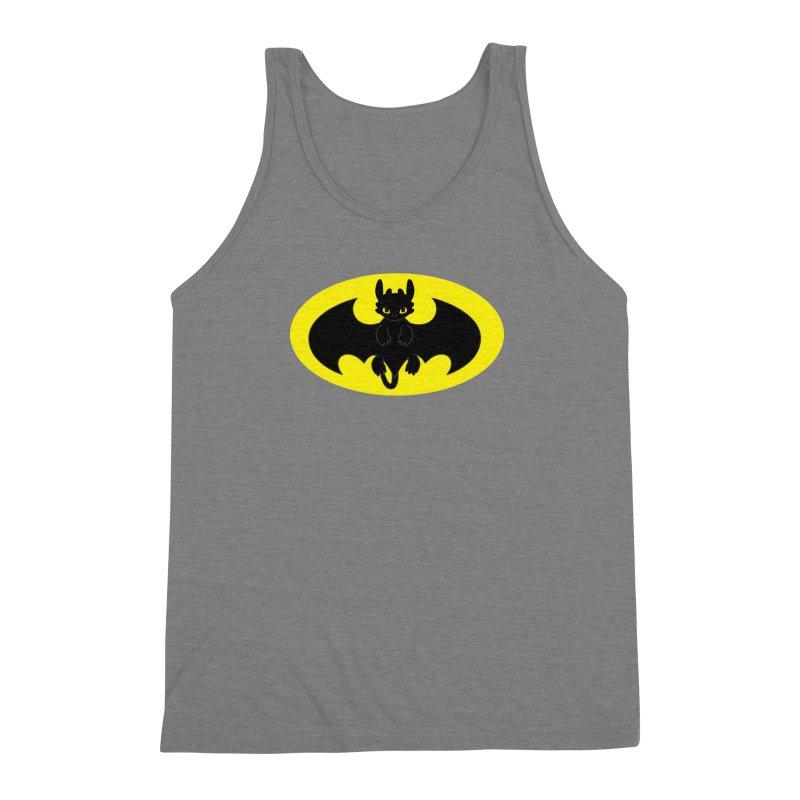 toothless batman Men's Triblend Tank by daniac's Artist Shop