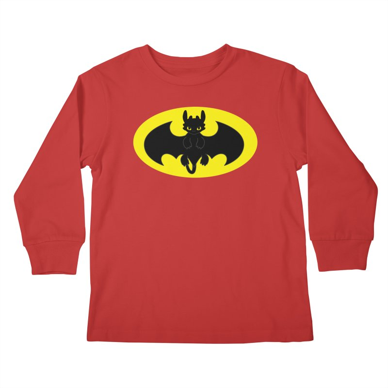 toothless batman Kids Longsleeve T-Shirt by daniac's Artist Shop