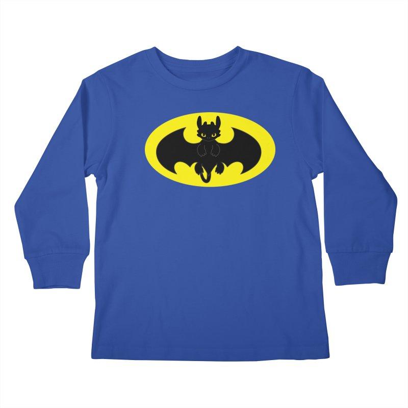 toothless batman Kids Longsleeve T-Shirt by daniac's Artist Shop