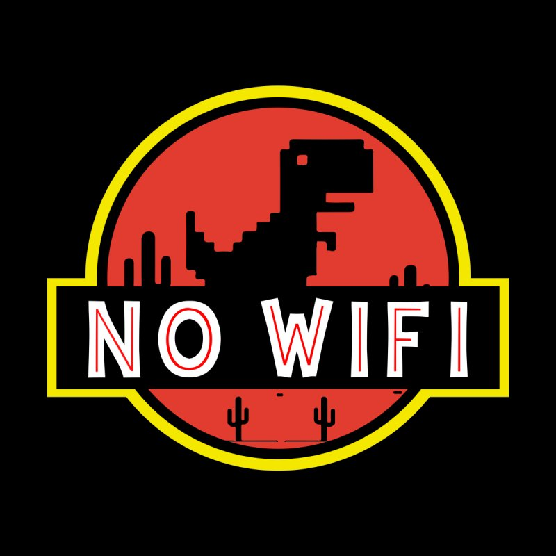 No Wifi Kids T-Shirt by daniac's Artist Shop