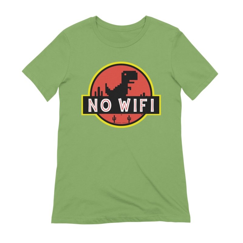 No Wifi Women's Extra Soft T-Shirt by daniac's Artist Shop