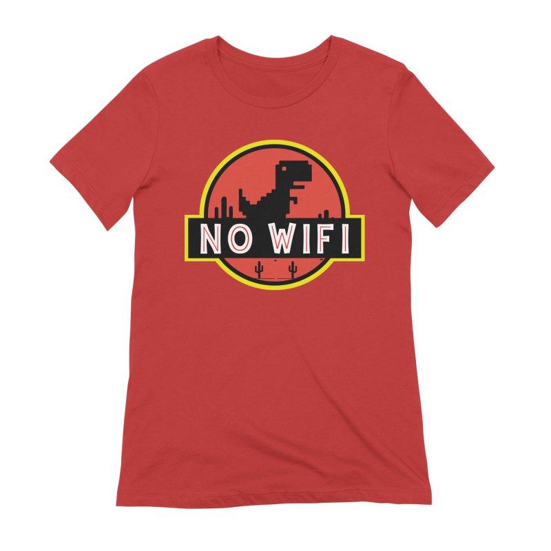 No Wifi Women's Extra Soft T-Shirt by daniac's Artist Shop