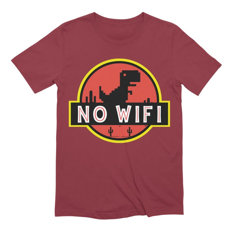 No Wifi Men's Extra Soft T-Shirt by daniac's Artist Shop