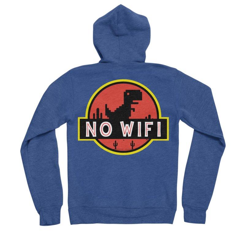 No Wifi Women's Sponge Fleece Zip-Up Hoody by daniac's Artist Shop