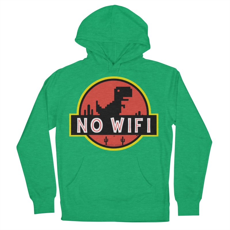 No Wifi Men's French Terry Pullover Hoody by daniac's Artist Shop