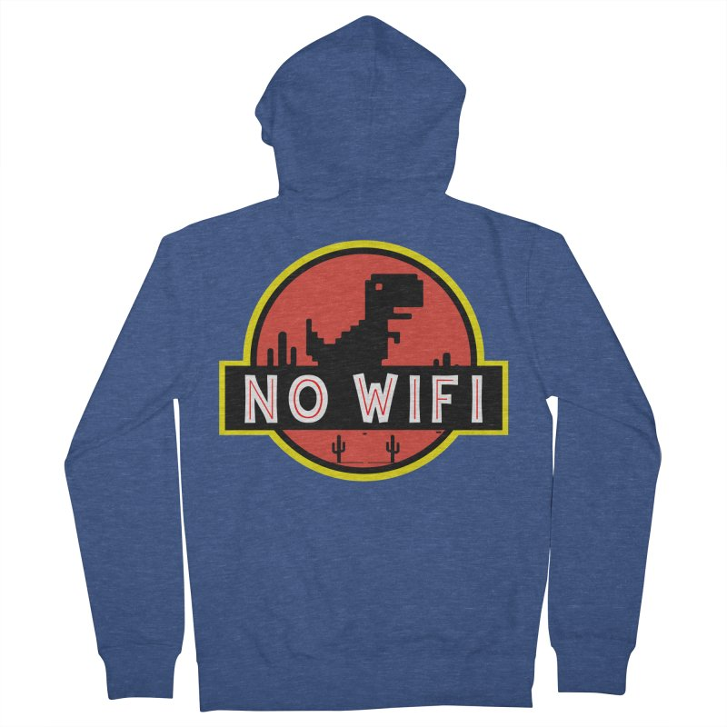 No Wifi Women's French Terry Zip-Up Hoody by daniac's Artist Shop