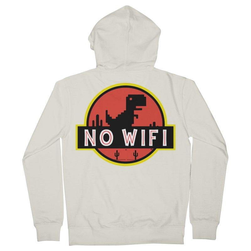 No Wifi Women's French Terry Zip-Up Hoody by daniac's Artist Shop