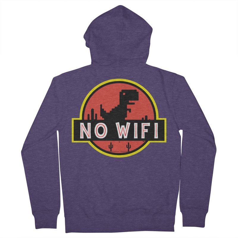 No Wifi Men's French Terry Zip-Up Hoody by daniac's Artist Shop