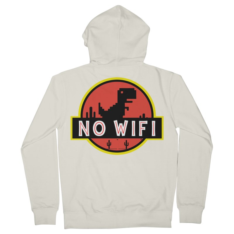 No Wifi Men's French Terry Zip-Up Hoody by daniac's Artist Shop