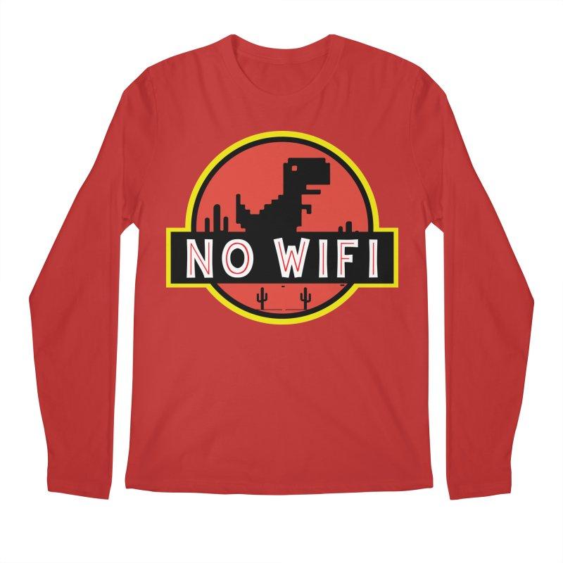 No Wifi Men's Regular Longsleeve T-Shirt by daniac's Artist Shop