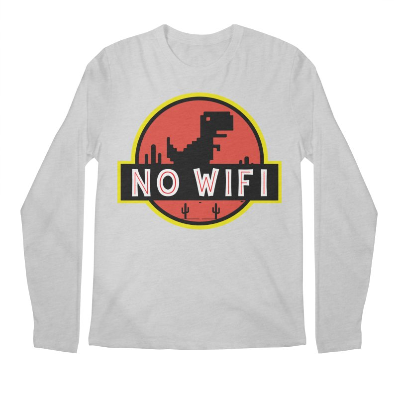 No Wifi Men's Regular Longsleeve T-Shirt by daniac's Artist Shop