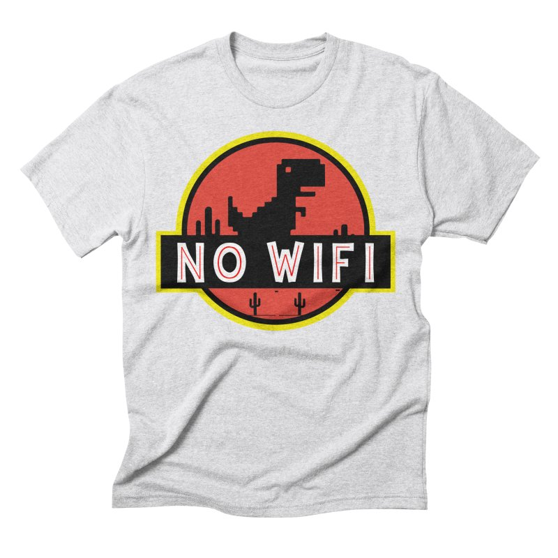 No Wifi Men's Triblend T-Shirt by daniac's Artist Shop