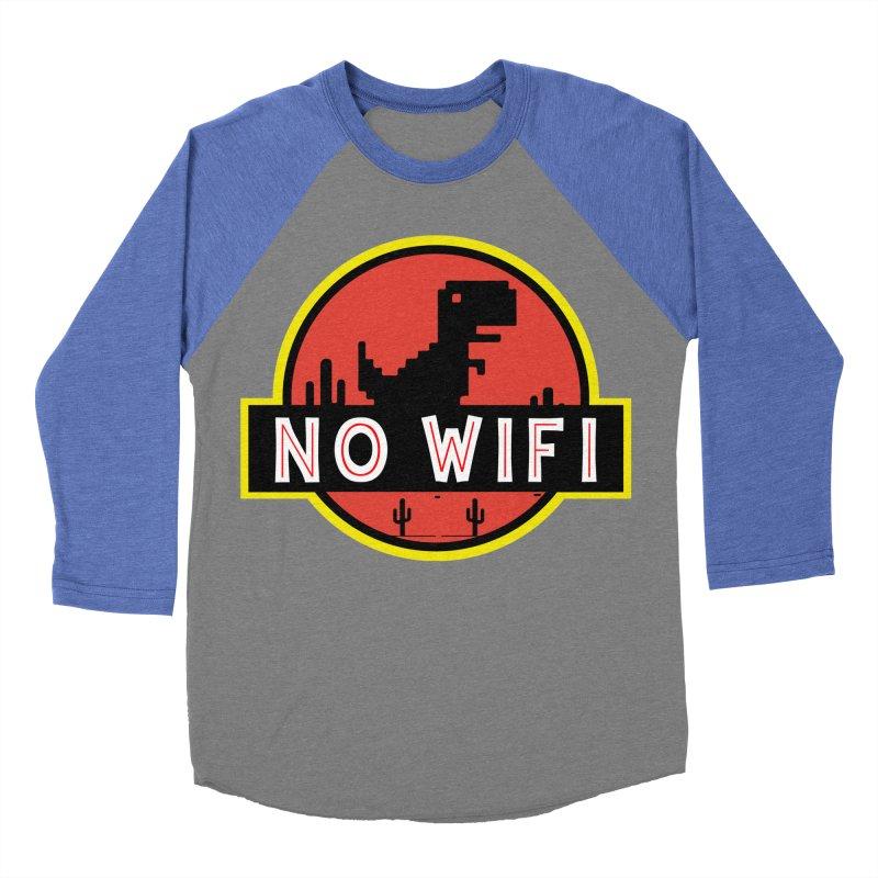 No Wifi Women's Baseball Triblend Longsleeve T-Shirt by daniac's Artist Shop