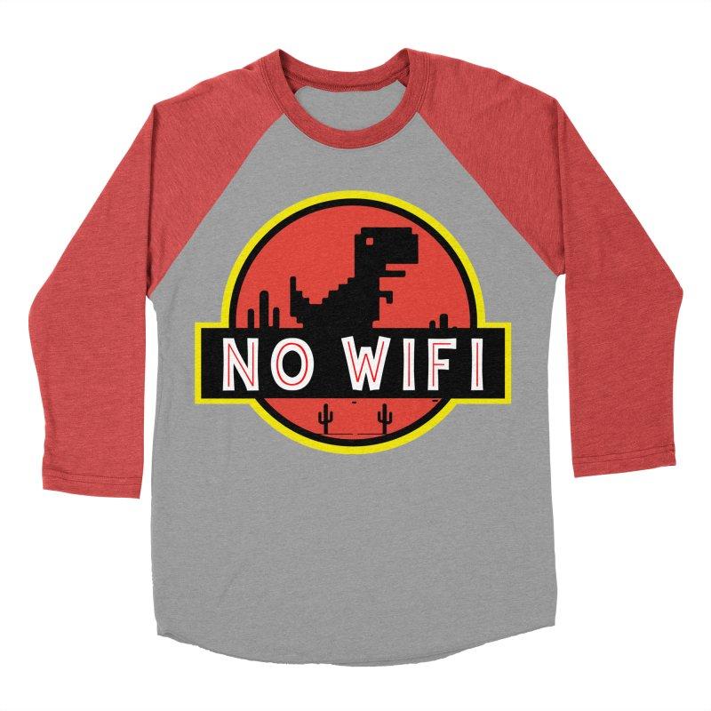 No Wifi Men's Baseball Triblend Longsleeve T-Shirt by daniac's Artist Shop