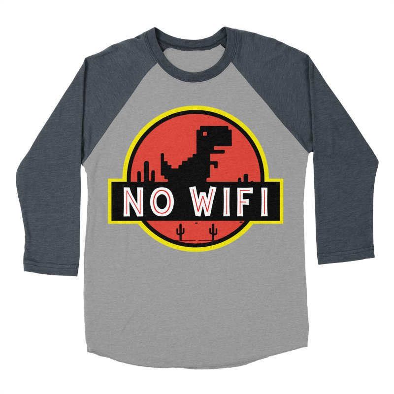 No Wifi Men's Baseball Triblend Longsleeve T-Shirt by daniac's Artist Shop