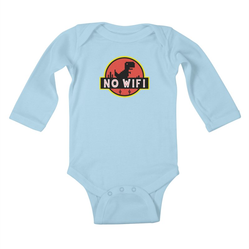 No Wifi Kids Baby Longsleeve Bodysuit by daniac's Artist Shop
