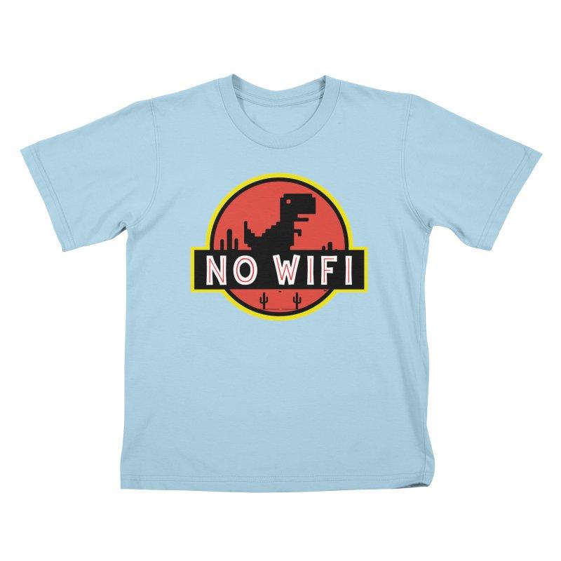No Wifi Kids T-Shirt by daniac's Artist Shop