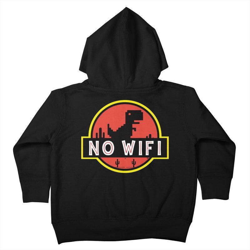No Wifi Kids Toddler Zip-Up Hoody by daniac's Artist Shop