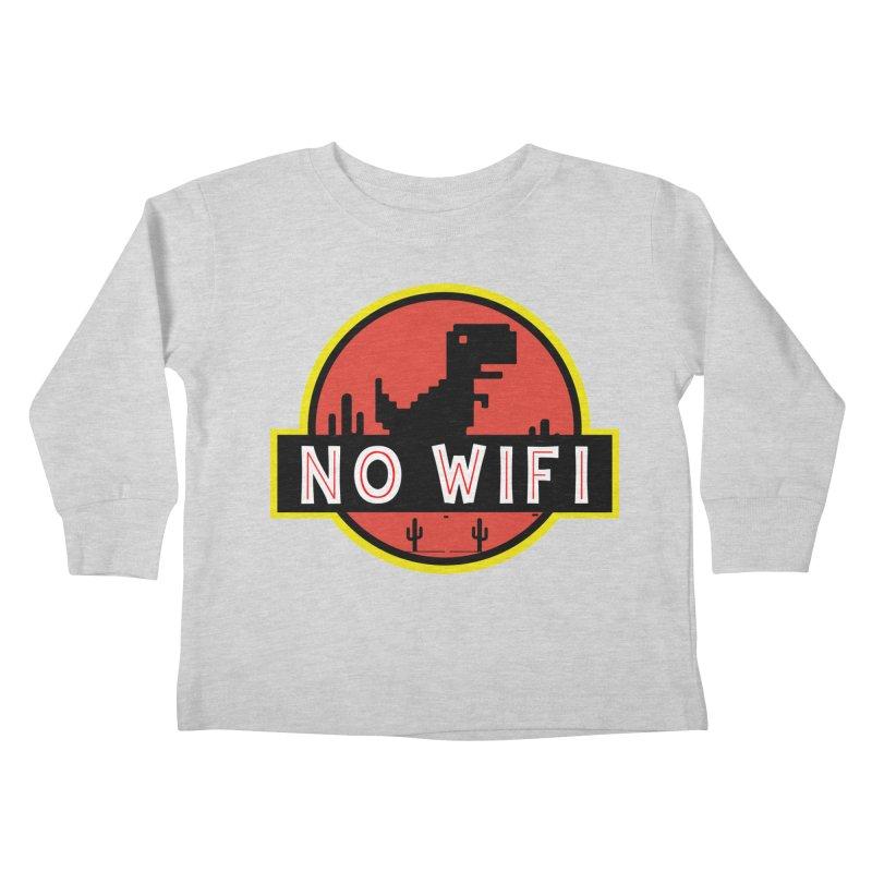 No Wifi Kids Toddler Longsleeve T-Shirt by daniac's Artist Shop