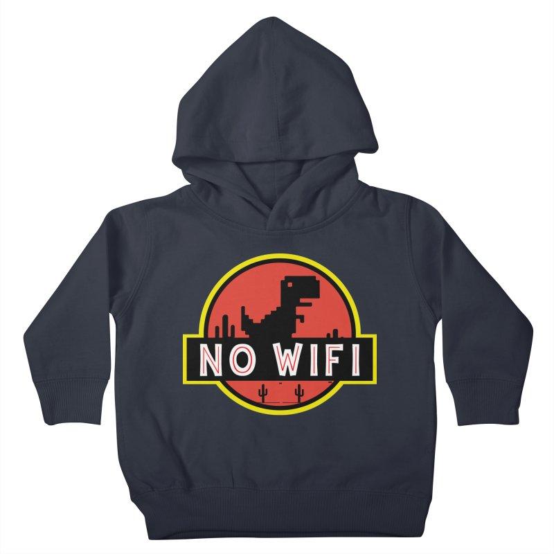 No Wifi Kids Toddler Pullover Hoody by daniac's Artist Shop
