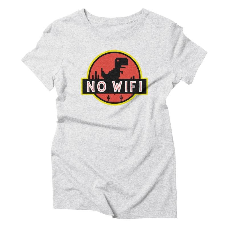 No Wifi Women's T-Shirt by daniac's Artist Shop
