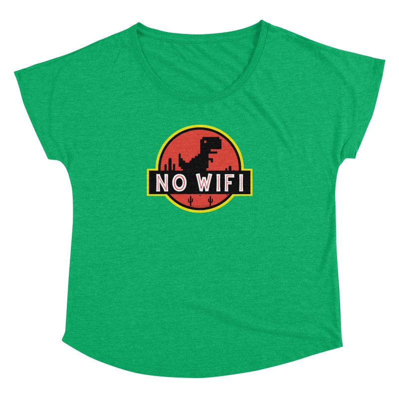 No Wifi Women's Dolman Scoop Neck by daniac's Artist Shop