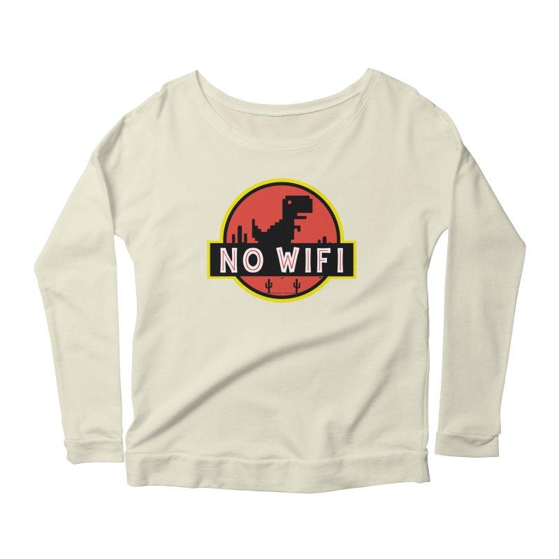 No Wifi Women's Scoop Neck Longsleeve T-Shirt by daniac's Artist Shop