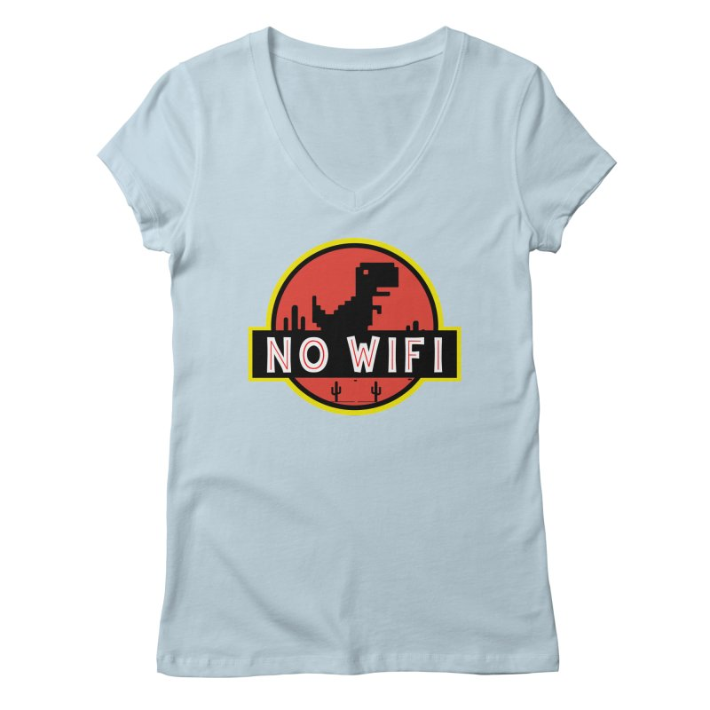 No Wifi Women's Regular V-Neck by daniac's Artist Shop