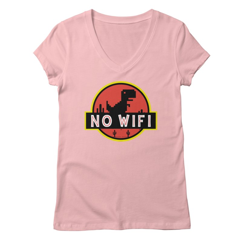 No Wifi Women's Regular V-Neck by daniac's Artist Shop