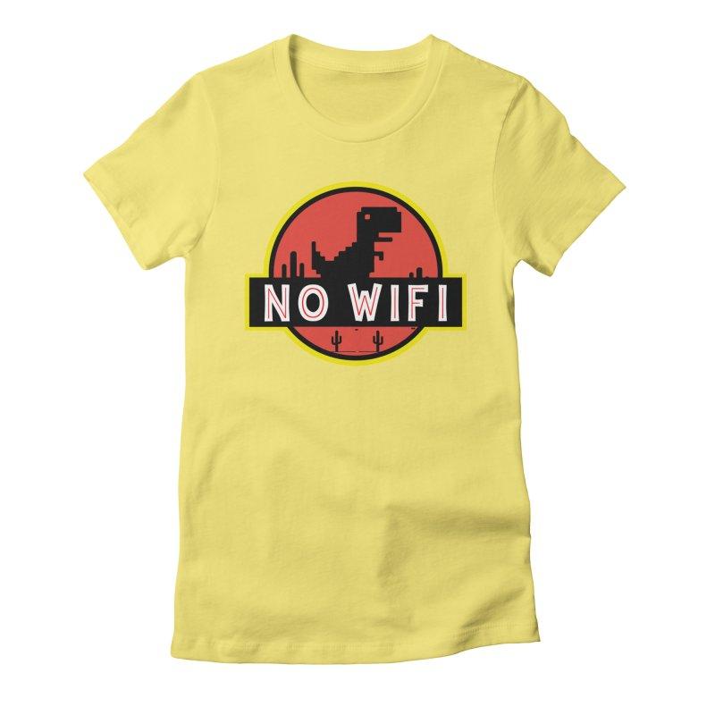 No Wifi Women's Fitted T-Shirt by daniac's Artist Shop