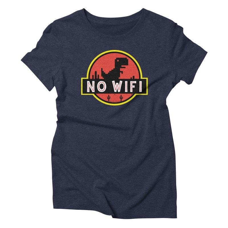 No Wifi Women's Triblend T-Shirt by daniac's Artist Shop